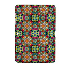 Jewel Tiles Kaleidoscope Samsung Galaxy Tab 2 (10 1 ) P5100 Hardshell Case  by WolfepawFractals