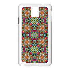 Jewel Tiles Kaleidoscope Samsung Galaxy Note 3 N9005 Case (white) by WolfepawFractals