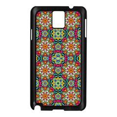 Jewel Tiles Kaleidoscope Samsung Galaxy Note 3 N9005 Case (black) by WolfepawFractals