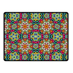 Jewel Tiles Kaleidoscope Double Sided Fleece Blanket (small)  by WolfepawFractals