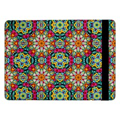 Jewel Tiles Kaleidoscope Samsung Galaxy Tab Pro 12 2  Flip Case by WolfepawFractals