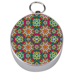 Jewel Tiles Kaleidoscope Silver Compasses by WolfepawFractals