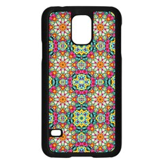 Jewel Tiles Kaleidoscope Samsung Galaxy S5 Case (black) by WolfepawFractals