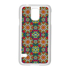 Jewel Tiles Kaleidoscope Samsung Galaxy S5 Case (white) by WolfepawFractals