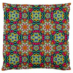 Jewel Tiles Kaleidoscope Standard Flano Cushion Case (one Side) by WolfepawFractals
