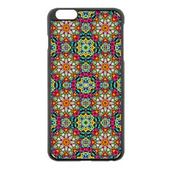 Jewel Tiles Kaleidoscope Apple Iphone 6 Plus/6s Plus Black Enamel Case by WolfepawFractals