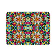 Jewel Tiles Kaleidoscope Double Sided Flano Blanket (mini)  by WolfepawFractals