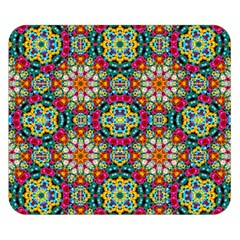 Jewel Tiles Kaleidoscope Double Sided Flano Blanket (small)  by WolfepawFractals