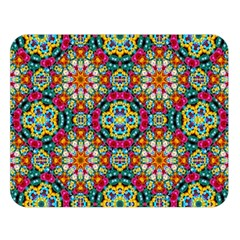 Jewel Tiles Kaleidoscope Double Sided Flano Blanket (large)  by WolfepawFractals