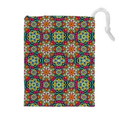 Jewel Tiles Kaleidoscope Drawstring Pouches (extra Large) by WolfepawFractals