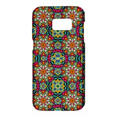 Jewel Tiles Kaleidoscope Samsung Galaxy S7 Hardshell Case  by WolfepawFractals