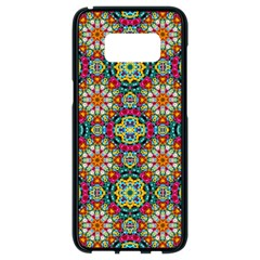 Jewel Tiles Kaleidoscope Samsung Galaxy S8 Black Seamless Case by WolfepawFractals
