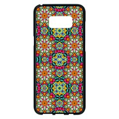 Jewel Tiles Kaleidoscope Samsung Galaxy S8 Plus Black Seamless Case by WolfepawFractals