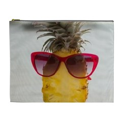 Pineapple With Sunglasses Cosmetic Bag (xl) by LimeGreenFlamingo