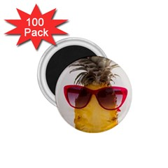 Pineapple With Sunglasses 1 75  Magnets (100 Pack)  by LimeGreenFlamingo
