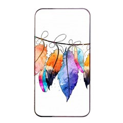Watercolor Feathers Apple Iphone 4/4s Seamless Case (black) by LimeGreenFlamingo