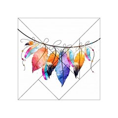 Watercolor Feathers Acrylic Tangram Puzzle (4  X 4 )