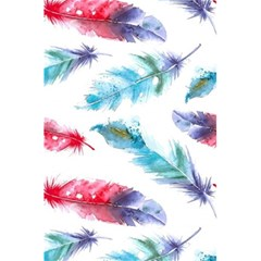Watercolor Feather Background 5 5  X 8 5  Notebooks by LimeGreenFlamingo