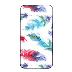 Watercolor Feather Background Apple Iphone 4/4s Seamless Case (black) by LimeGreenFlamingo