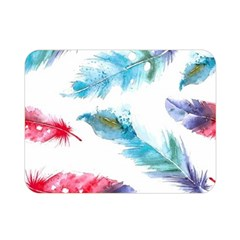Watercolor Feather Background Double Sided Flano Blanket (mini)  by LimeGreenFlamingo