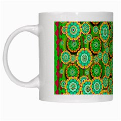 Flowers In Mind In Happy Soft Summer Time White Mugs by pepitasart