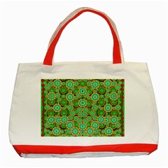 Flowers In Mind In Happy Soft Summer Time Classic Tote Bag (red) by pepitasart