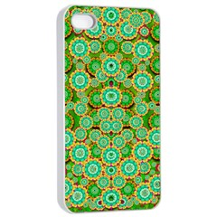 Flowers In Mind In Happy Soft Summer Time Apple Iphone 4/4s Seamless Case (white) by pepitasart