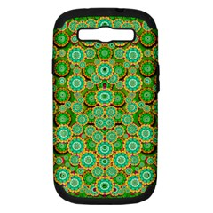 Flowers In Mind In Happy Soft Summer Time Samsung Galaxy S Iii Hardshell Case (pc+silicone) by pepitasart