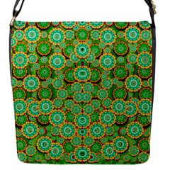 Flowers In Mind In Happy Soft Summer Time Flap Messenger Bag (s) by pepitasart