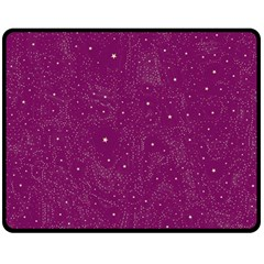Awesome Allover Stars 01e Double Sided Fleece Blanket (medium)  by MoreColorsinLife