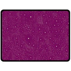 Awesome Allover Stars 01e Double Sided Fleece Blanket (large)  by MoreColorsinLife