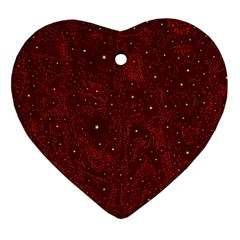 Awesome Allover Stars 01a Ornament (heart) by MoreColorsinLife