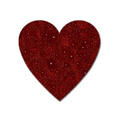 Awesome Allover Stars 01a Heart Magnet by MoreColorsinLife