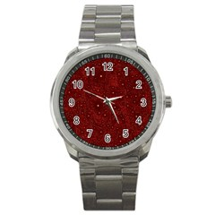 Awesome Allover Stars 01a Sport Metal Watch by MoreColorsinLife