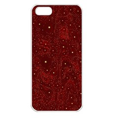 Awesome Allover Stars 01a Apple Iphone 5 Seamless Case (white) by MoreColorsinLife