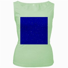 Awesome Allover Stars 01f Women s Green Tank Top by MoreColorsinLife
