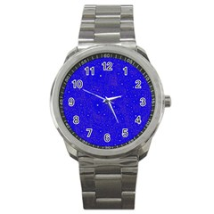 Awesome Allover Stars 01f Sport Metal Watch by MoreColorsinLife