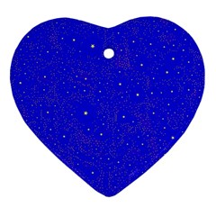 Awesome Allover Stars 01f Heart Ornament (two Sides) by MoreColorsinLife