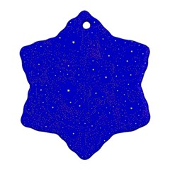 Awesome Allover Stars 01f Snowflake Ornament (two Sides) by MoreColorsinLife