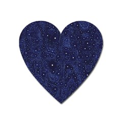 Awesome Allover Stars 01b Heart Magnet by MoreColorsinLife