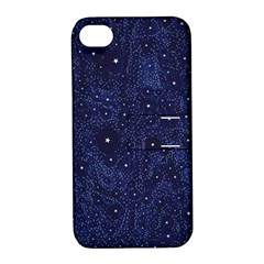 Awesome Allover Stars 01b Apple Iphone 4/4s Hardshell Case With Stand by MoreColorsinLife