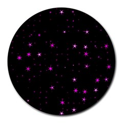 Awesome Allover Stars 02d Round Mousepads by MoreColorsinLife