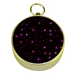 Awesome Allover Stars 02d Gold Compasses by MoreColorsinLife