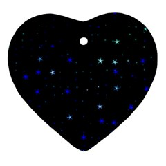Awesome Allover Stars 02 Ornament (heart) by MoreColorsinLife