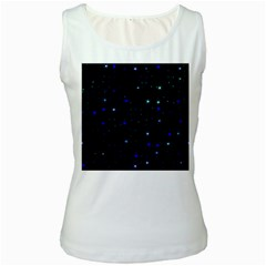 Awesome Allover Stars 02 Women s White Tank Top by MoreColorsinLife