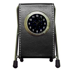 Awesome Allover Stars 02 Pen Holder Desk Clocks by MoreColorsinLife