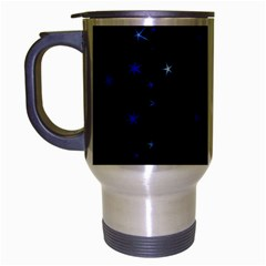 Awesome Allover Stars 02 Travel Mug (silver Gray) by MoreColorsinLife