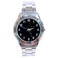 Awesome Allover Stars 02 Stainless Steel Analogue Watch by MoreColorsinLife