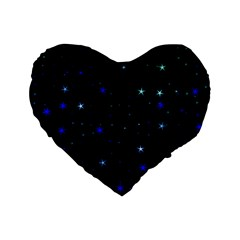 Awesome Allover Stars 02 Standard 16  Premium Heart Shape Cushions by MoreColorsinLife