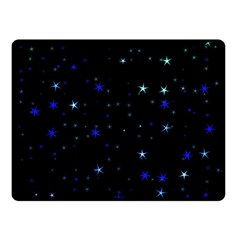 Awesome Allover Stars 02 Double Sided Fleece Blanket (small)  by MoreColorsinLife